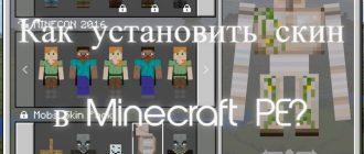 Как установить скин в Minecraft PE