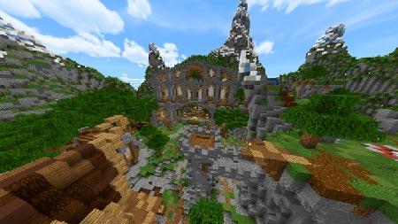 Средневековый замок майнкрафт