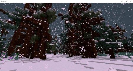 тайга в снегу